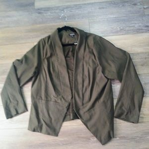 NWT Torrid olive green blazer